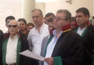 Urfa Barosundan eylemci avukatlara destek