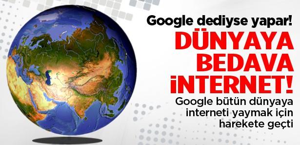 Google'dan çılgın proje: Bedava internet
