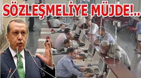 Başbakan Erdoğan'dan sözleşmelilere müjde
