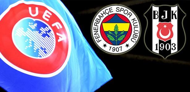 UEFA, Fenerbahçe ve Beşiktaş'a men cezası verdi