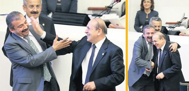 Meclis'te güldüren renkli görüntüler