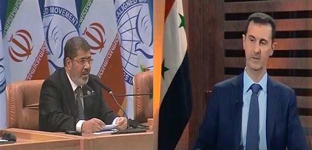 Mürsi, Ahmedinejad'ın karşısında Esed'e 'zalim' demişti