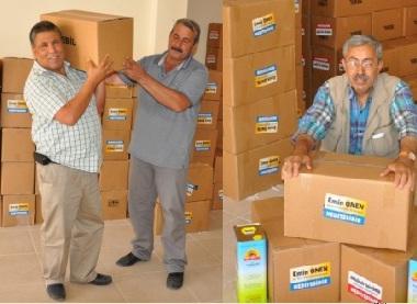 Vekil Önen'den fakirlere Ramazan paketi