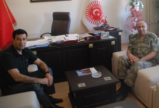 Albay Dursun'dan veda ziyareti