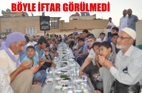 Haleplibahçe'de imece usulü ile camide iftar VİDEO