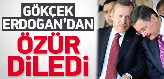 Gökçek, Başbakan Erdoğan'dan özür diledi