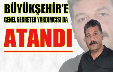 Büyükşehir Belediyesi Genel Sekreter Yardımcısı Özçınar Oldu