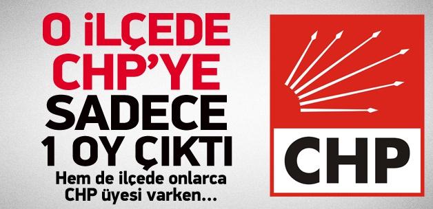 O ilçede CHP'ye sadece 1 oy çıktı