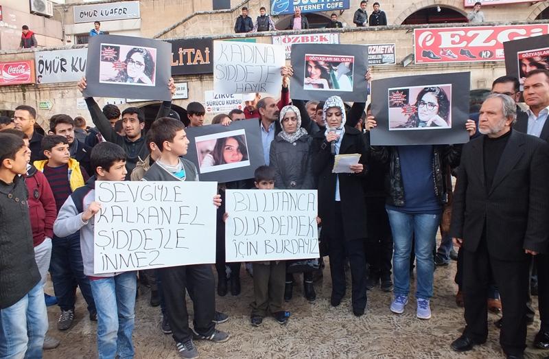 Urfa'daki Kadınlardan Özgecan protestosu
