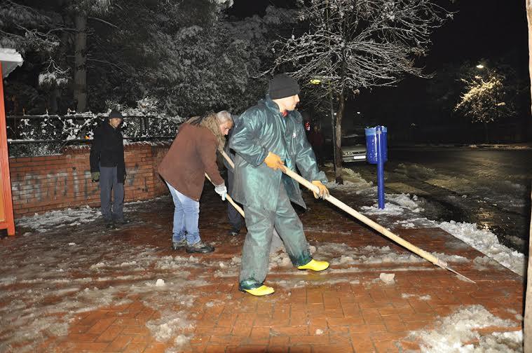 Siverek'te kar temizleme seferberliği
