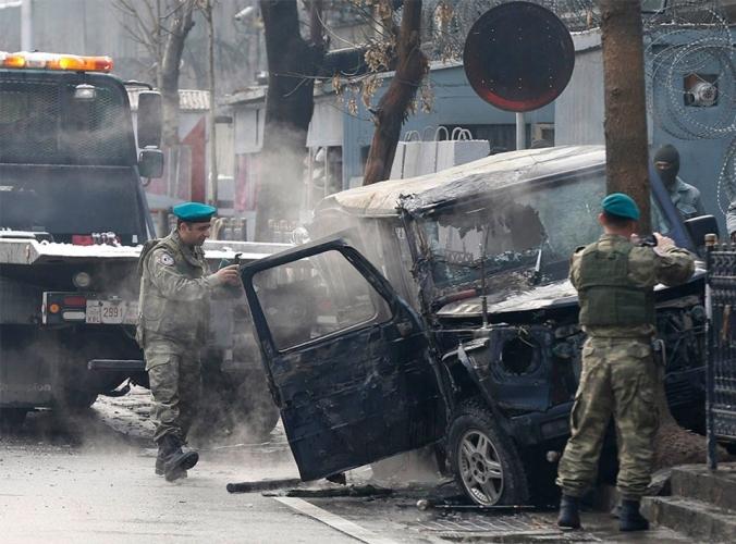 Afganistan Türk Büyükelçiliği'ne intihar saldırısı:1 ölü