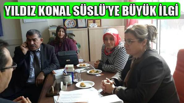 Şanlıurfa Milletvekili aday adayı Yıldız Konal Süslü'ye büyük ilgi