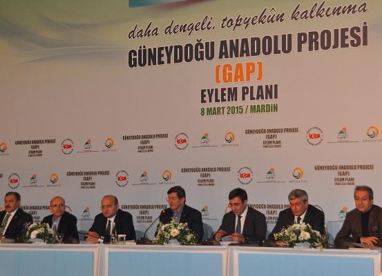 Yeni GAP Eylem Planını Davutoğlu açıklandı