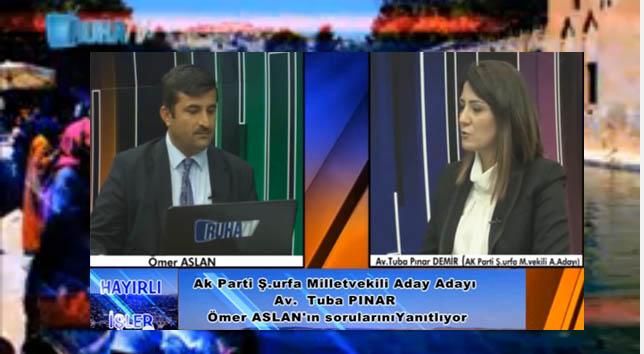 Tuba Pınar Demir Hayırlı işler programına konuk oldu