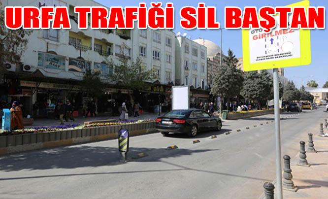 Urfa merkez trafiği yeniden düzenlendi