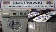 Batman'da çamaşır makinesinde kaçak sigara ele geçirildi