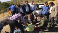 Siirt'te tarım aracı devrildi: 3 yaralı