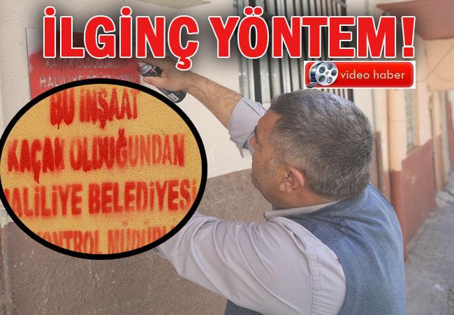Haliliye Belediyesi kaçak yapı için bakın ne yaptı