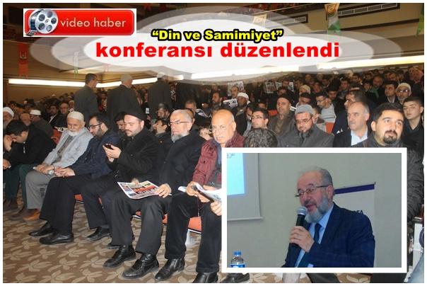 Din ve Samimiyet konferansı Urfa'da düzenlendi