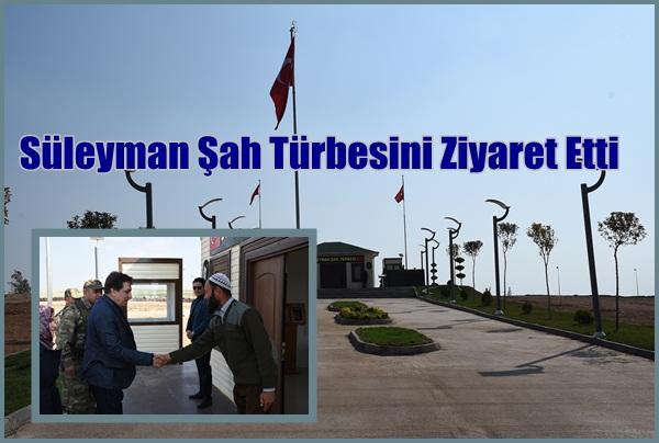 Vali Küçük'ten Süleyman Şah Türbesine ziyaret