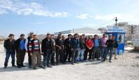 Cezaevi inşaatı işçilerinden 'iş bırakma' eylemi