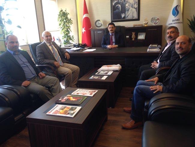 Mehmet Altun'dan ŞUSKİ Genel Müdürü Hamdi Us'a hayırlı olsun ziyareti