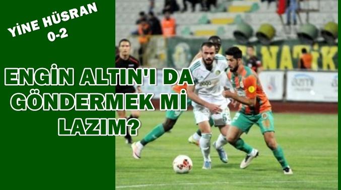 Urfaspor 0 Alanyaspor 2- Bakalım Erhan Altın'la sezonu bitirecek miyiz?