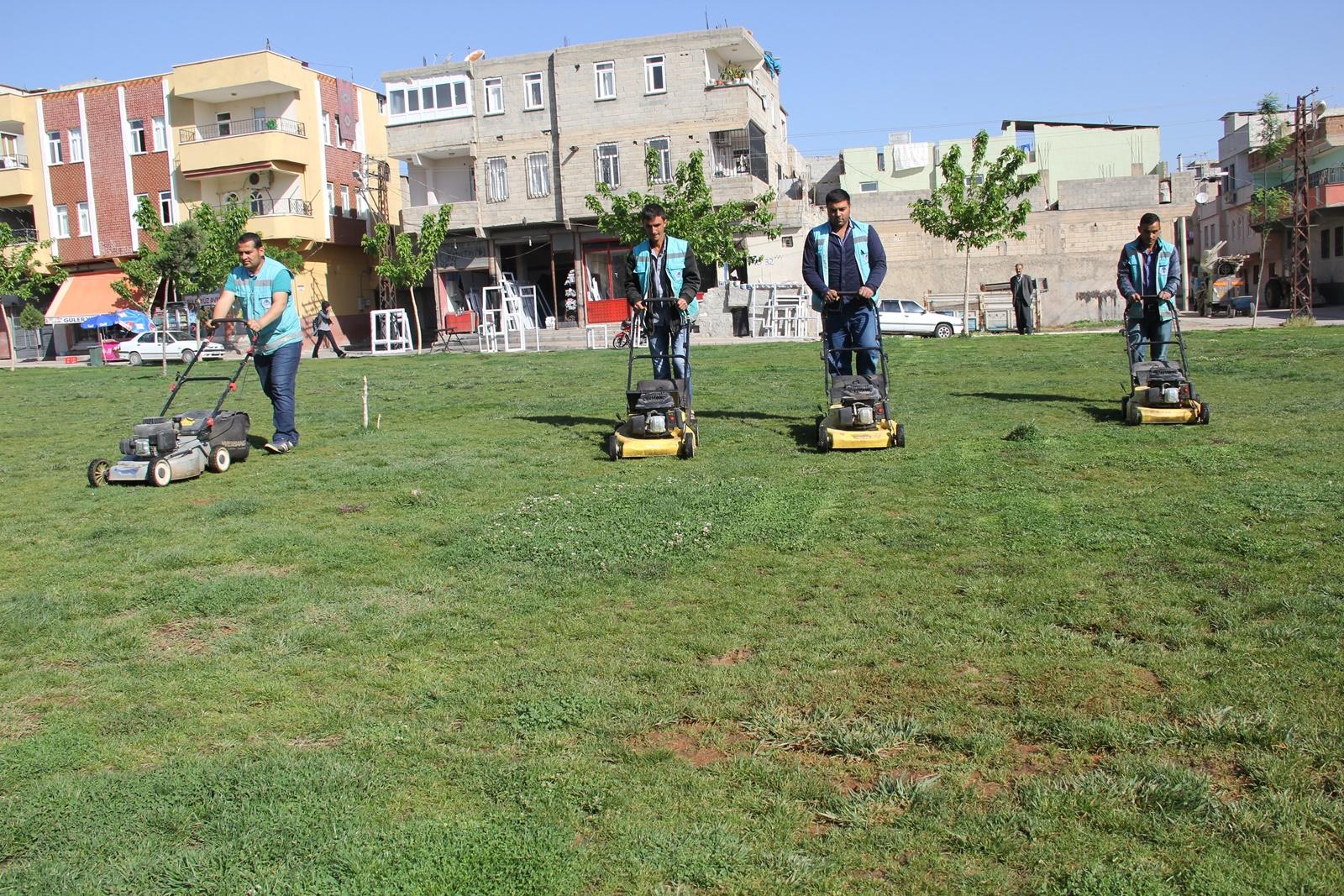 Eyyübiye Belediyesi Parkları Güzelleştiriyor