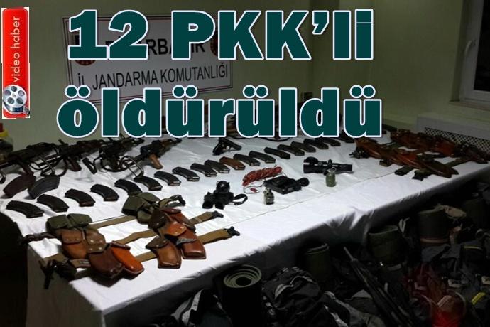 Valilik açıkladı: 12 PKK'linin öldürüldü