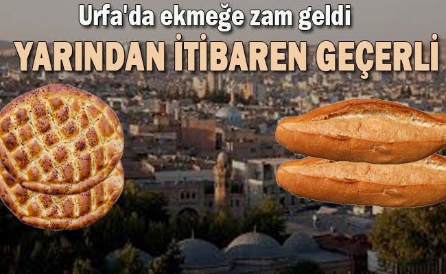 Flaş Gelişme! Urfa'da ekmeğe Zam geldi