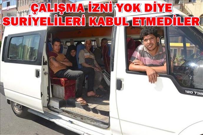 Almanya'ya değil Mersin'e gittiler! Urfa'ya geri gönderildiler