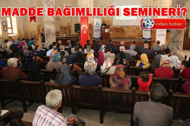 Urfa'da Uyuşturucu ve Madde Bağımlılığı semineri