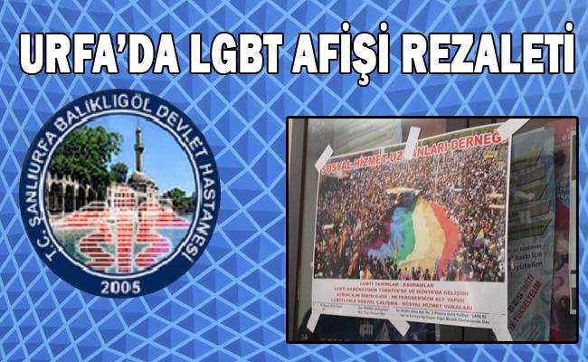 Rezalet! Miraç kandilinde LGBT afişini Devlet Hastanesine astılar