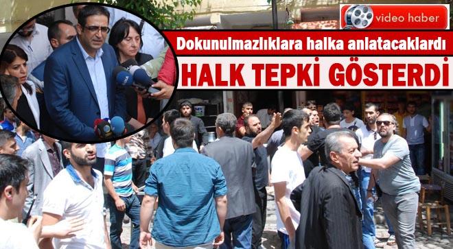 HDP heyetine halk tepki gösterdi