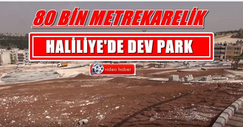 80 Bin Metrekarelik Parkta Çalışmalar Sürüyor