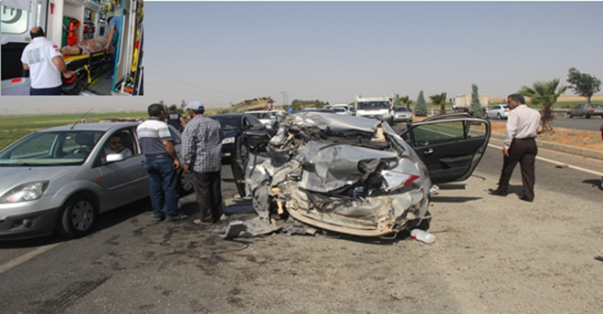Urfa-Mardin yolunda feci kaza: 1 ölü 6 yaralı