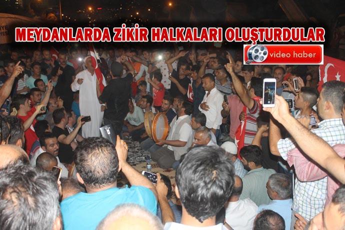 Urfa'da darbe karşıtı gösterilerde 3. gün