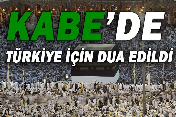 Sabah namazında Türkiye için dua ettiler...