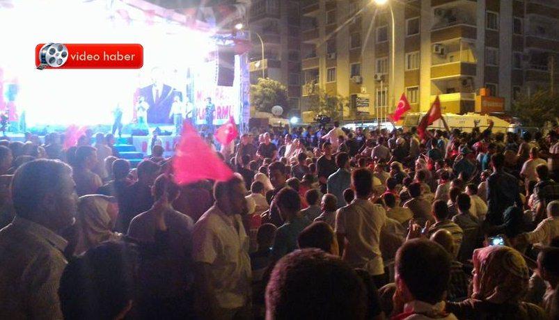 Eyyübiye Belediyesi Tugayın önüne Milli İrade Platformunu kurdu