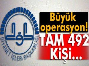 Diyanet İşleri Başkanlığı, 492 personeli görevden uzaklaştırıldı