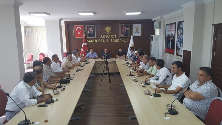 Urfa'daki Sendika temsilcileri AK Partiyi ziyaret ettiler