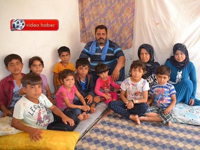 Viranşehir'deki Suriyeli bu aile yardım bekliyor
