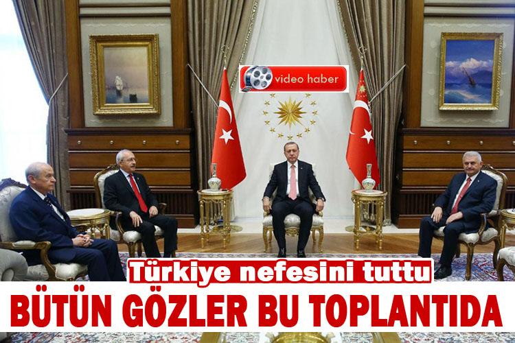 Erdoğan, Parti liderlerini beştepe'de toplandı