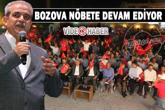 HALİLİYE BELEDİYESİ, DEMOKRASİ NÖBETİNİ BOZOVA'DA SÜRDÜRDÜ