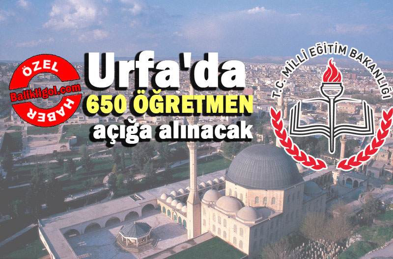 Flaş Gelişme! Urfa'da 650 Öğretmen daha açığa alınacak