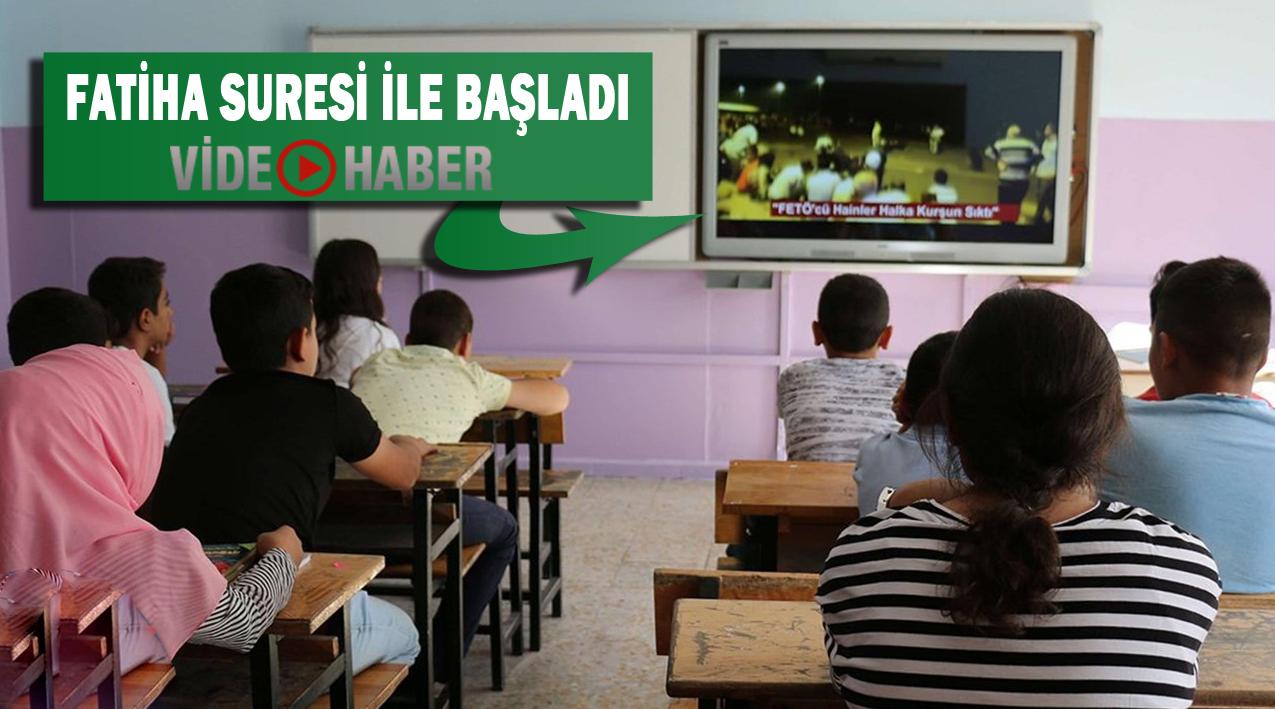 Urfa'daki Okullarda ilk derste 15 Temmuz konulu video izletildi