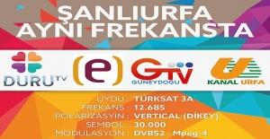 Şanlıurfa'nın 4 Televizyonu aynı frekansta