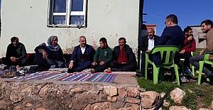 Aslan Ali Bayık, kırsal mahalle sakinleriyle...