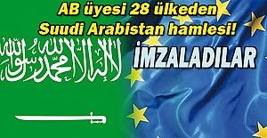 AB Ülkelerinden Arabistan'a karşı hamle