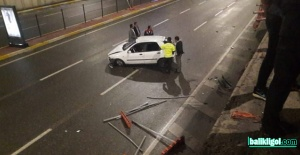 Şanlıurfa'da trafik kazası, bariyerlerden uçtu
